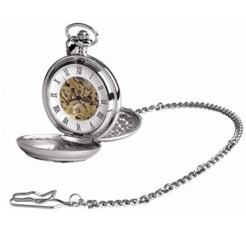 Masonic Two Tone Double Hunter Mechanical Pocket Watch