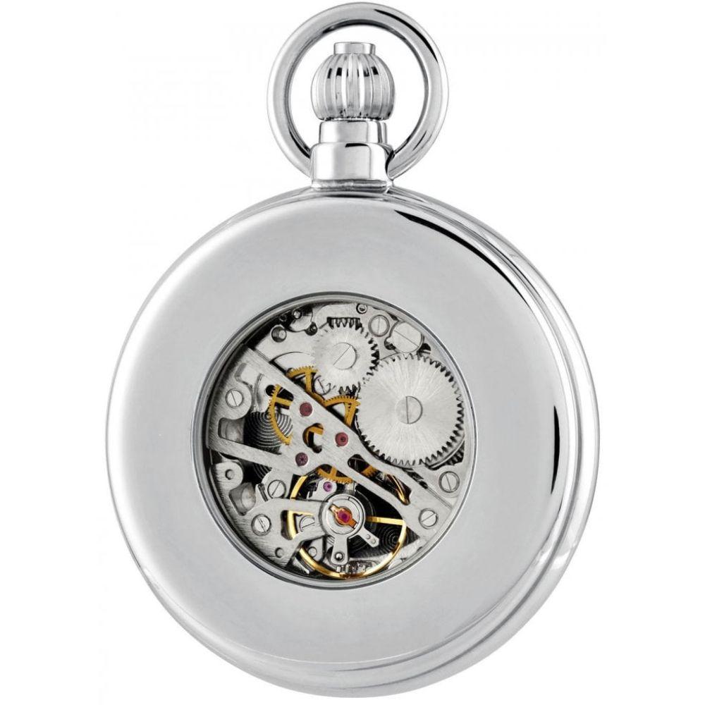 Chrome Plated 17 Jewel Mechanical Full Hunter Pocket Watch 1052