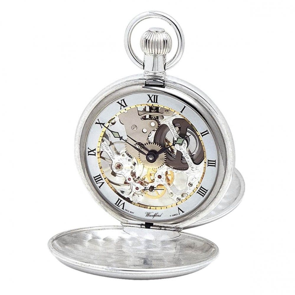 Sterling Silver Double Mechanical Hunter