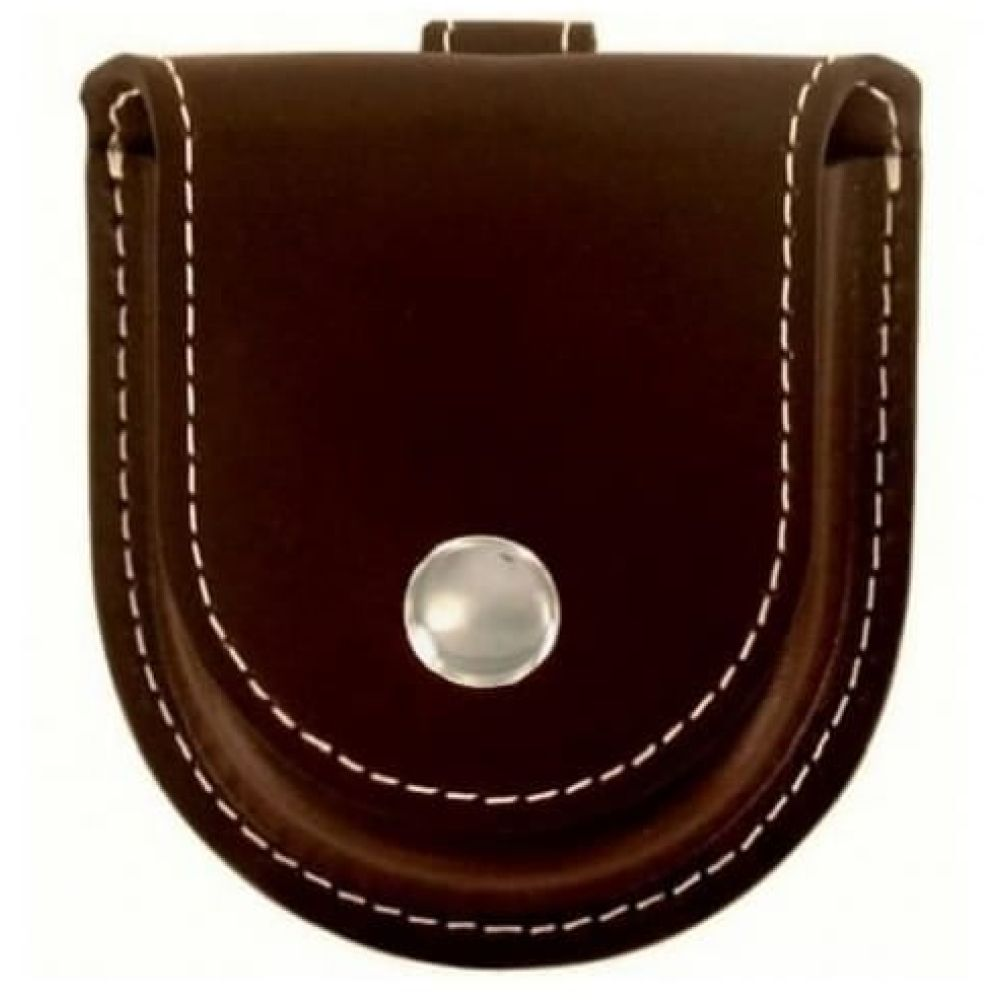 Brown Leatherette Pocket Watch Pouch