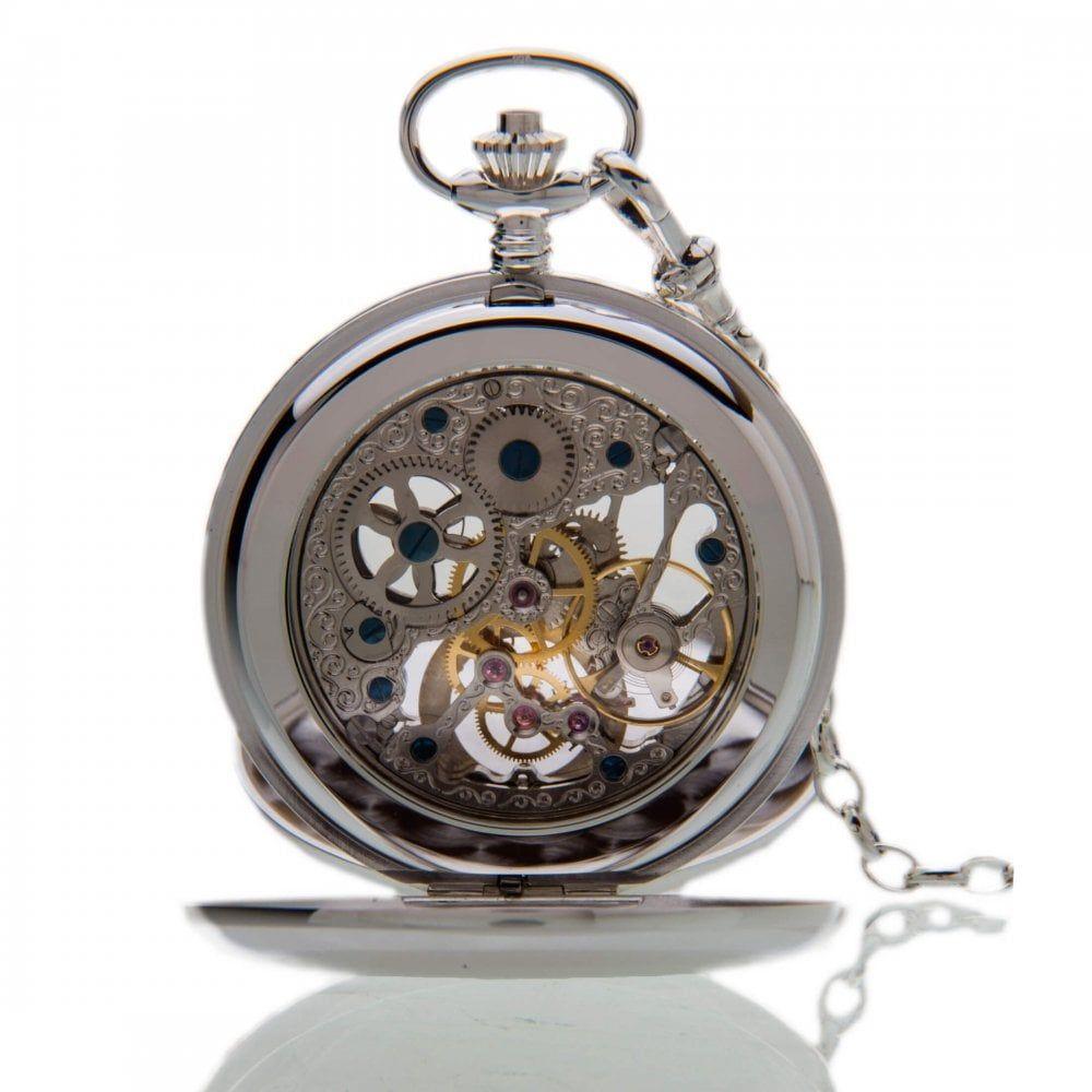 The Buckingham - Sterling Silver Mechanical Double Hunter Pocket Watch