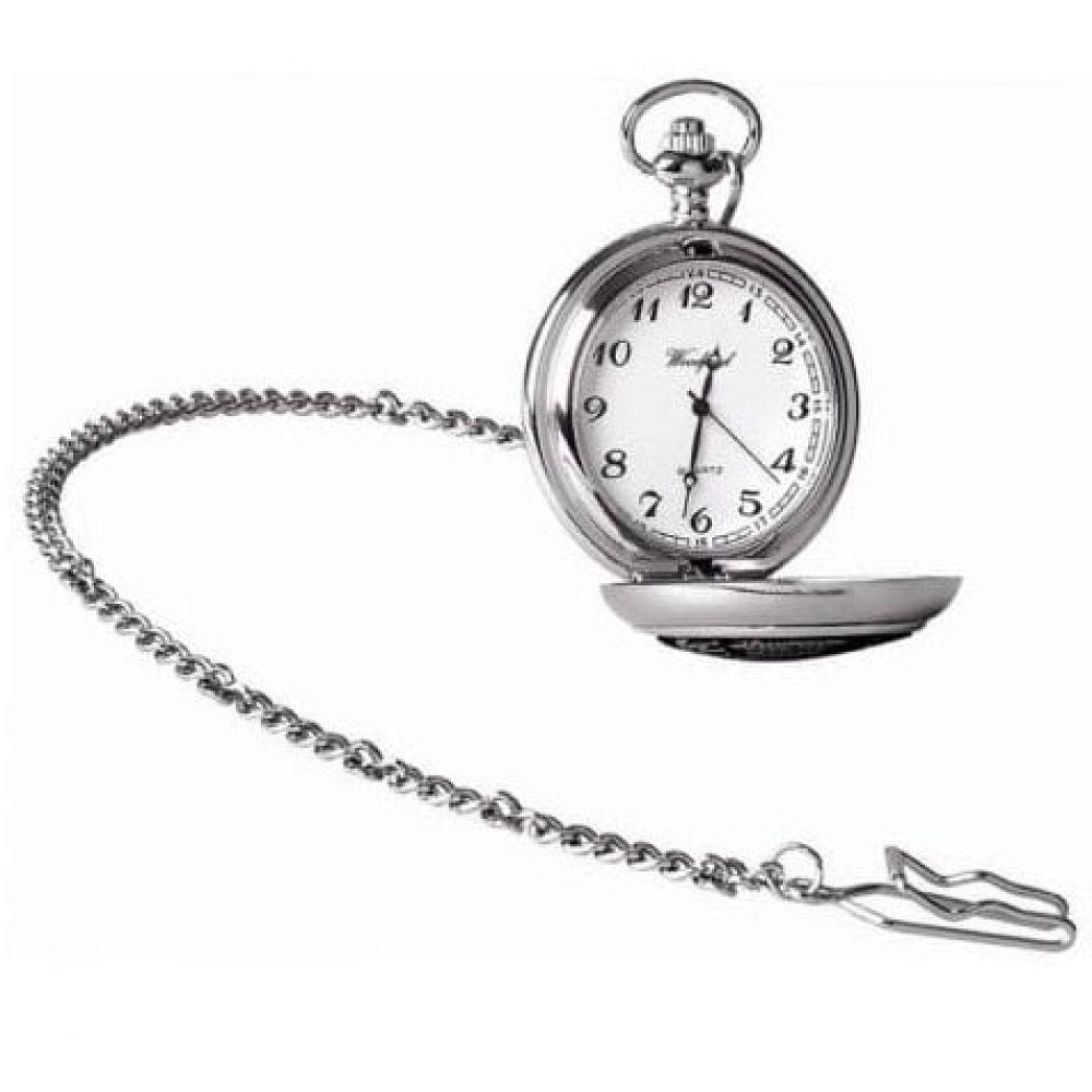 Archibald Knox Chrome Pewter Full Hunter Quartz Pocket Watch