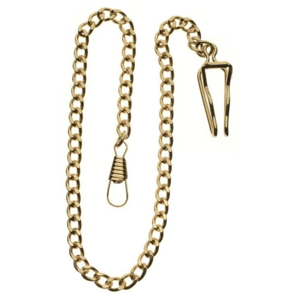 Masonic Gold Toned Quartz Half Hunter Pocket Watch