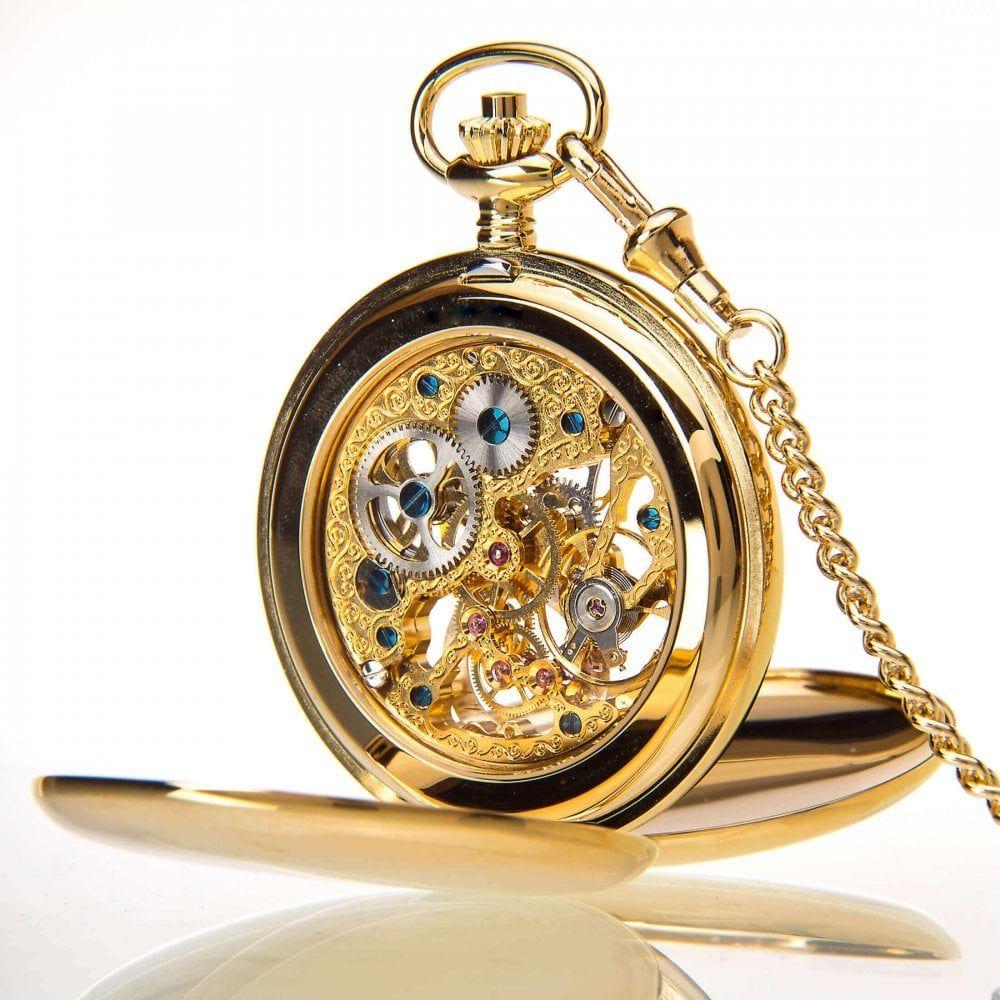 The Kensington - Gold Mechanical Double Hunter Pocket Watch