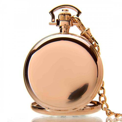The Windsor - Rose Gold Mechanical Double Half Hunter Pocket Watch