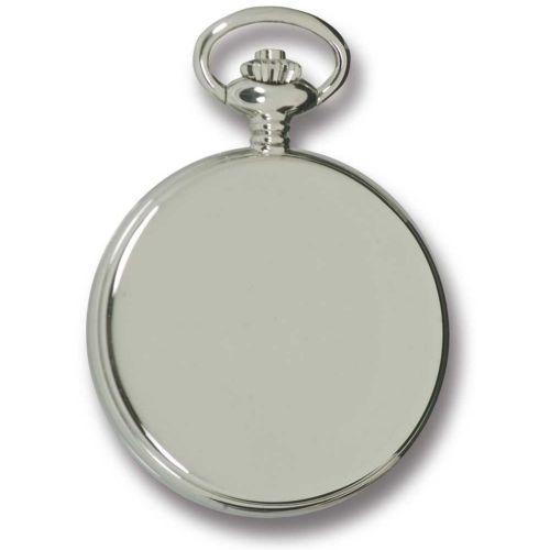Silver Tone Full Hunter Mechanical Pocket Watch