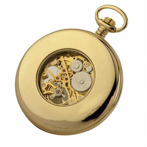 Gold Plated 17 Jewel Mechanical Open Face Pocket Watch