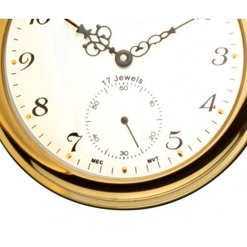 Gold Toned Full Hunter Mechanical Pocket Watch