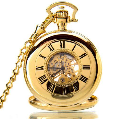 The Windsor - Gold Mechanical Double Half Hunter Pocket Watch