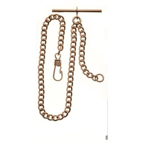 Rose Gold Two Chain Bundle T-Bar, Belt Loop & Bolt Ring