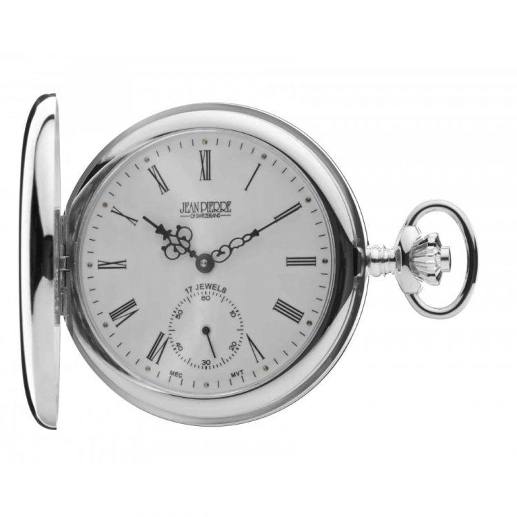 Full Hunter Sterling Silver Mechanical Pocket Watch